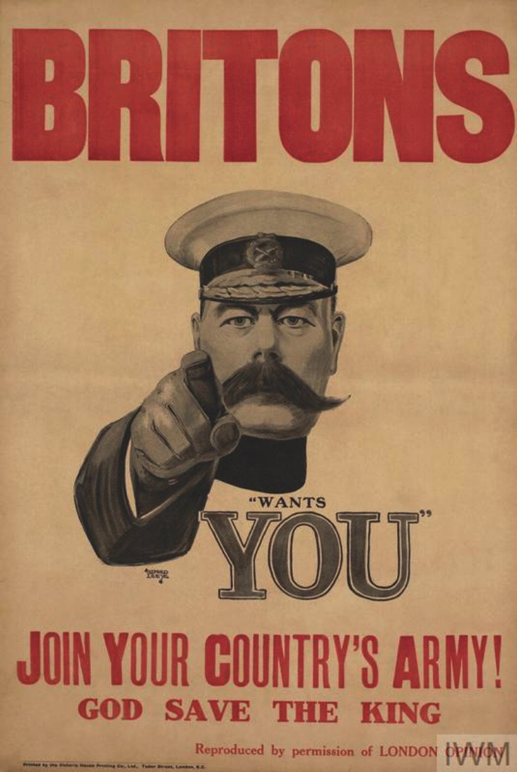 World War I recruitment poster of Lord Kitchener