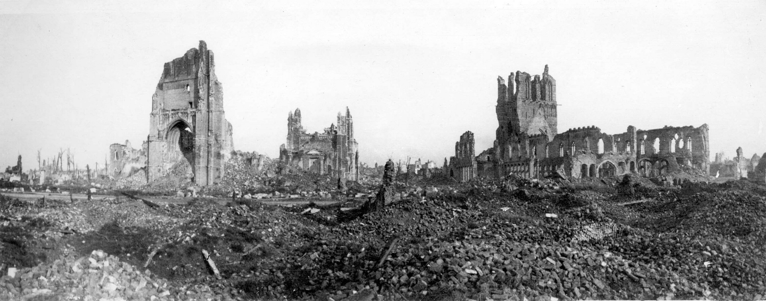 The Ruins of Ypres, May 1915