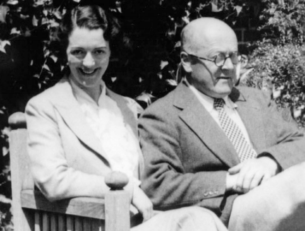 John Christie, founder of the Glyndebourne Opera Company, with his wife Audrey Mildmay