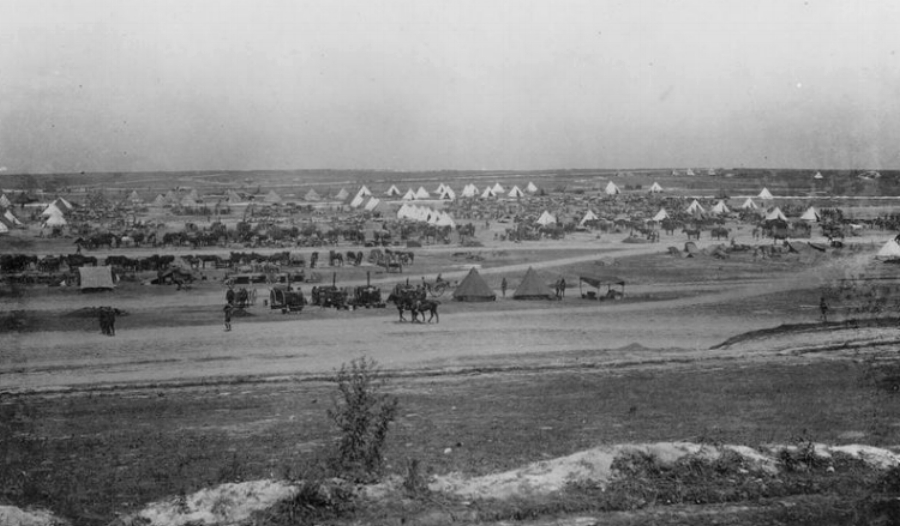 Camps and transport lines in Fricourt Valley, August 1916