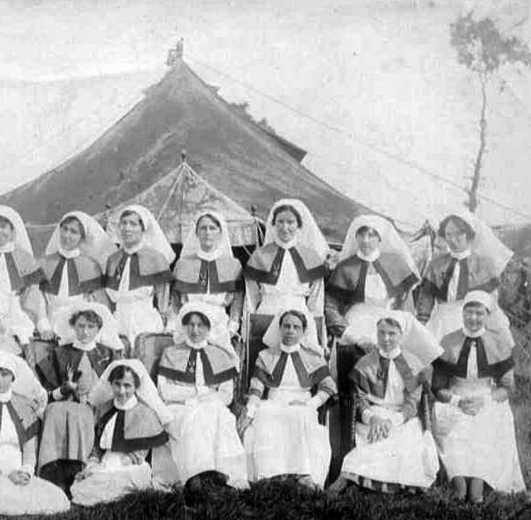 Members of Queen Alexandra's Imperial Military Nursing Service at the 44th Casualty Clearing Station