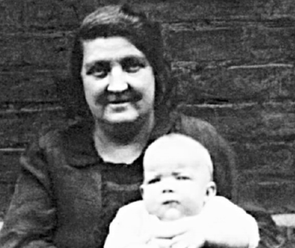 Sarah Ann Witton with her grandson Terrence Morley in 1940