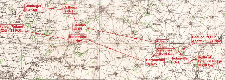 France Oct - Nov 1916