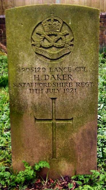Grave of Lance Corporal Harold Daker