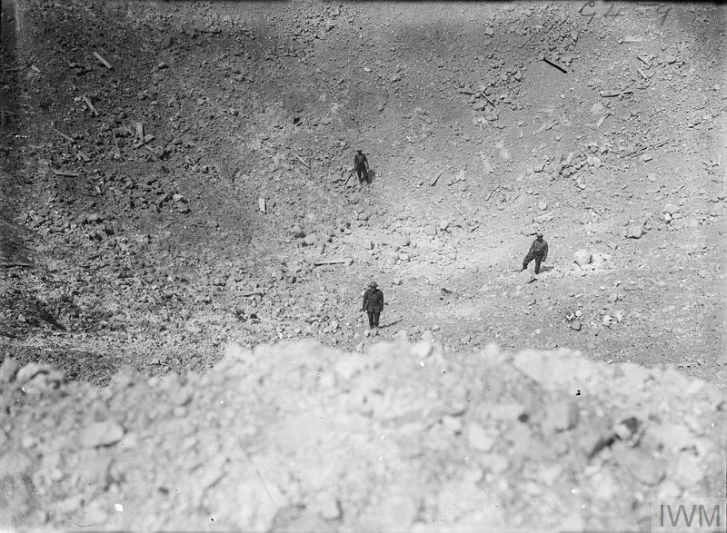 Interior of the Lochnagar Crater at La Boisselle, August 1916