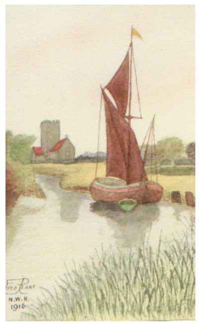 Painting by Frederick Plant, showing his artistic side .