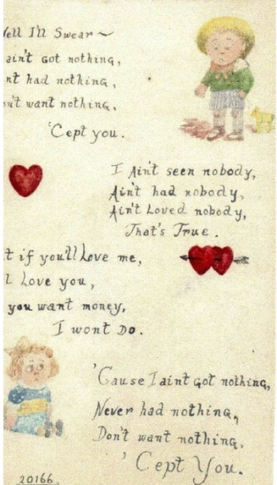 Poem written by Frederick Plant to his sweetheart Elsie Adams