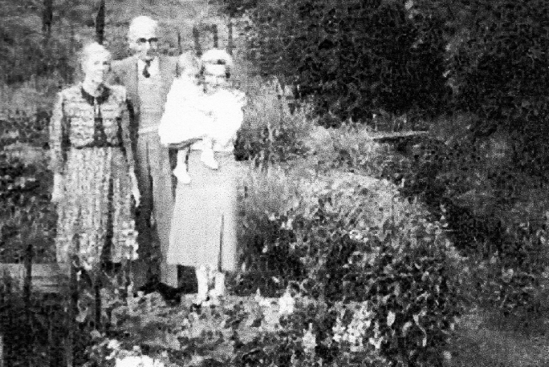 Frederick Plant and his wife Elsie pictured in later life with niece Freda and granddaughter Helen at his home in Rawnsley Road.