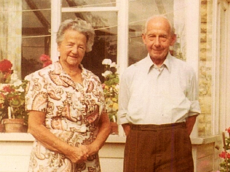 A family picture of Harold and his wife Florence taken later in his life.