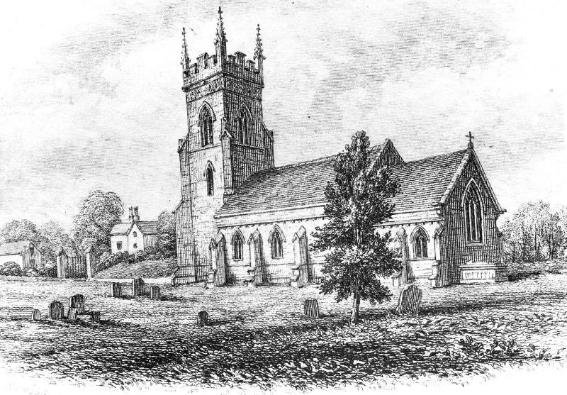Engraving of Christ Church, Lichfield