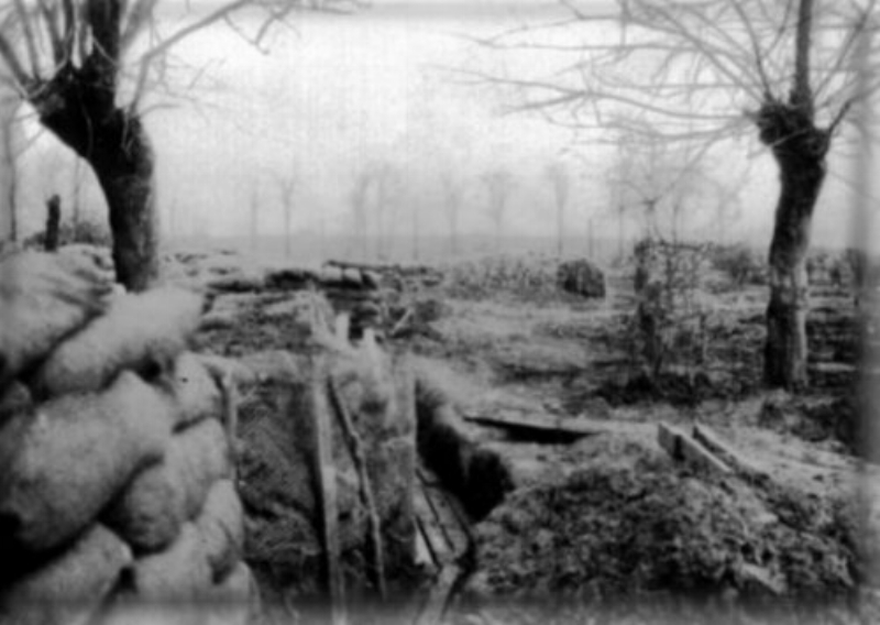 Trench 8, Wulverghem-Messines Road, April 1915