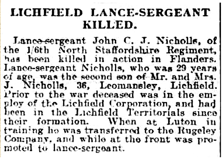 Extract from Evening Despatch 16 July 1915