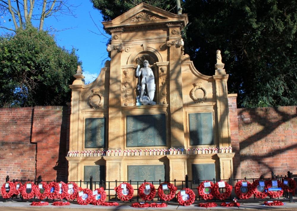 Lichfield War Memorial in the Garden of Remembrance