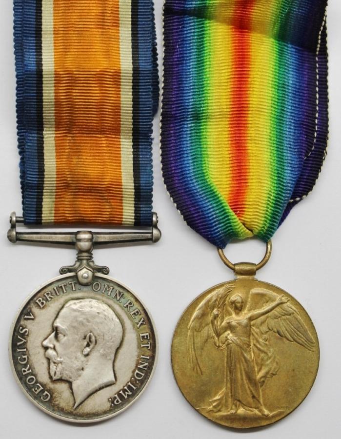 British War Medal obverse (left) and Victory Medal obverse (right)