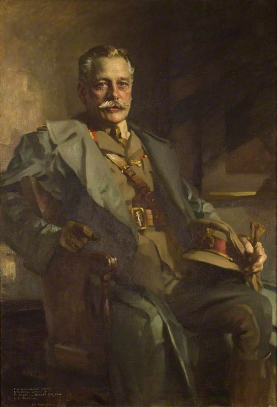 Portrait of Douglas Haig (1861–1928), 1st Earl Haig of Bemersyde,  painted by    James Bell Anderson (1886–1938)
