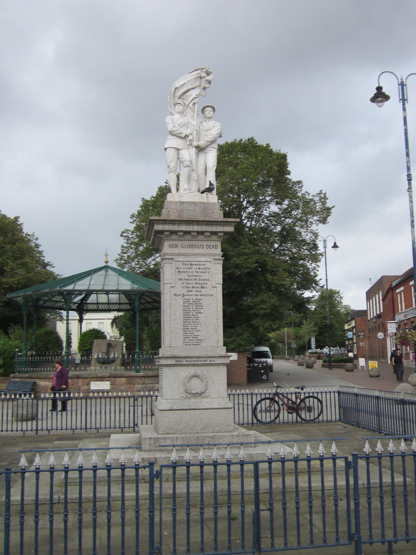 The War Memorial in Cannock Town Centre