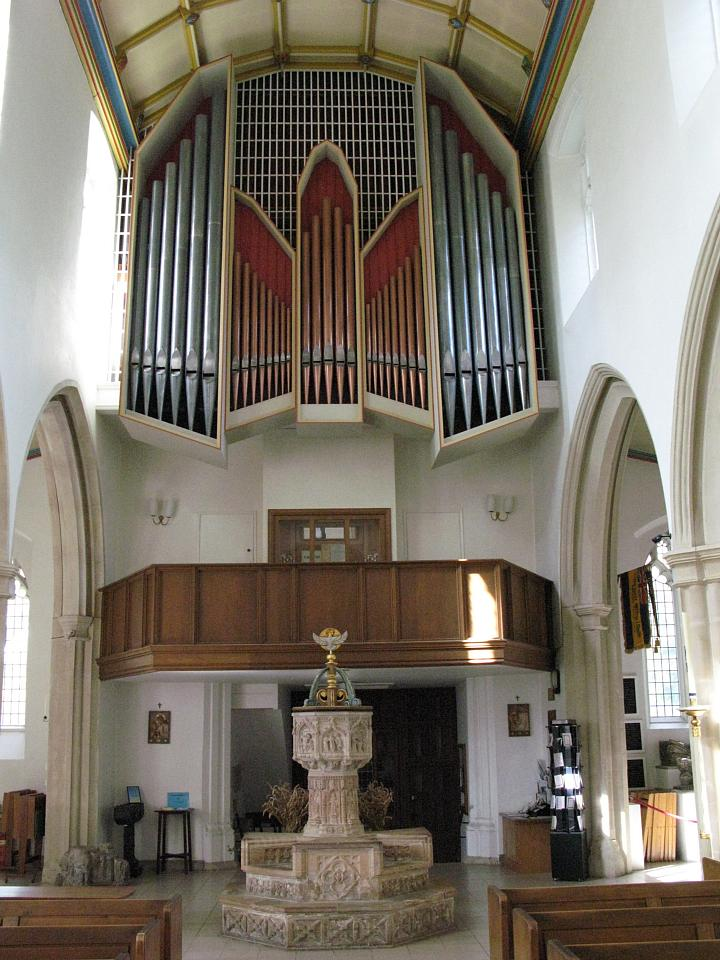 The interior of Christ Church, Blakenall Heath