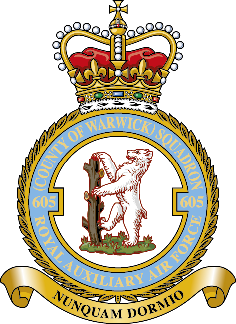 The badge of 605 Squadron RAF