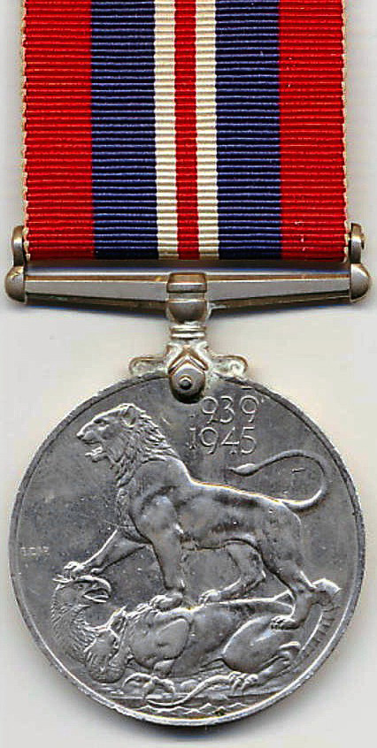 1939-1945 War Medal (reverse side)