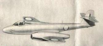 Drawing from a printed leaflet about the Meteor F8 fighter jet