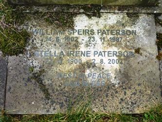 The gravestone of John's parents