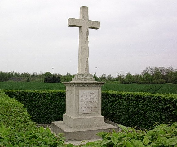 The memorial to the 46th (North Midland) Division at Vermelles