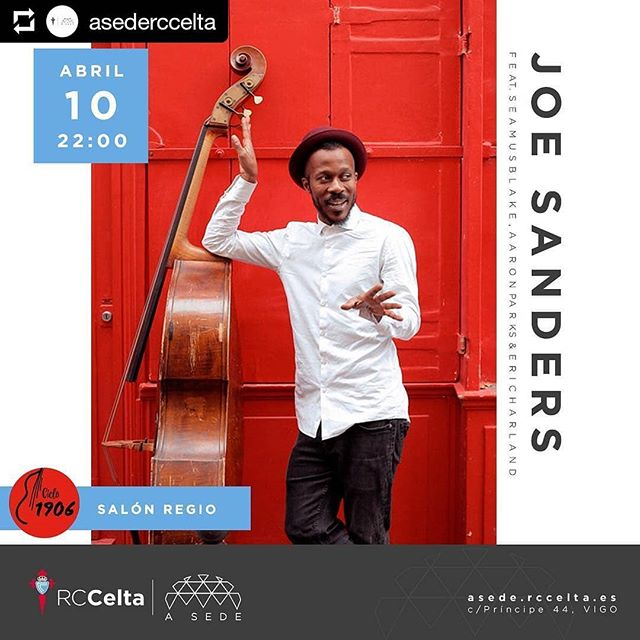 See you in Vigo... #joesandersinfinity #humanity #tour #salonregio #vigo #spain #rendezvous #ciclo1906 #aaronparks  #seamusblake  #ericharland