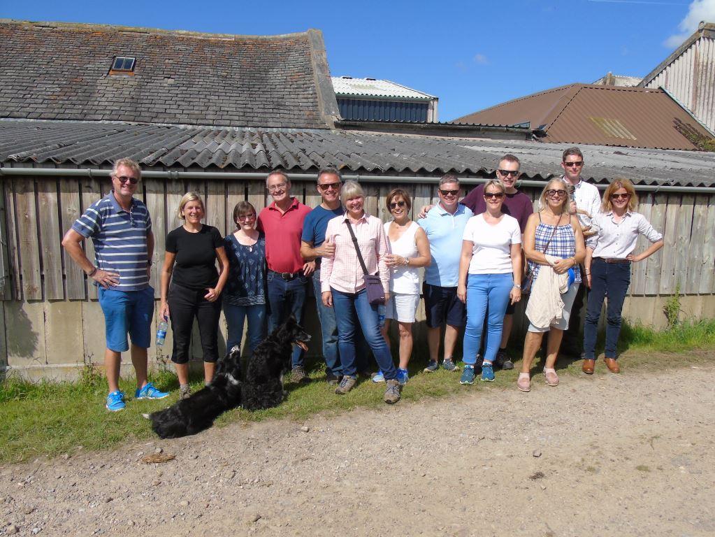 Visitors for a farm tour