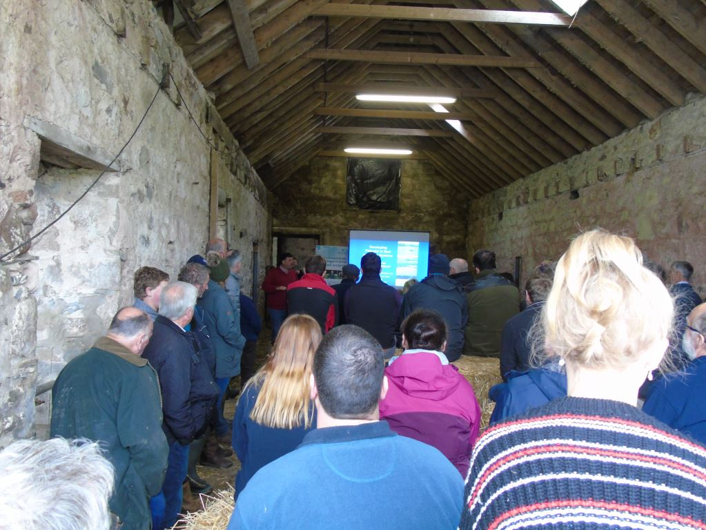 One of the old farm buildings was converted into a temporary cinema!