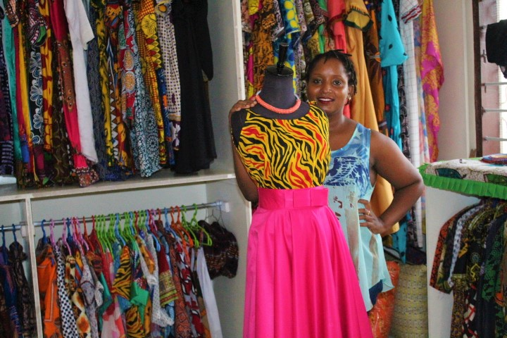 Exhibit #2 - Rahma Bajun, a Tanzanian, is the founder of MnM clothing line, an Afrocentric clothing brand that makes affordable clothes, and fashion accessories using the Kitenge fabric..