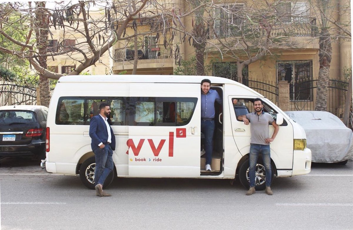 Exhibit #3 - SWVL is a premium mass transportation system that provides buses to every neighborhood in Cairo founded by a team of 3. SWVL allows people to commute safely and affordably.