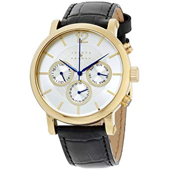 The Look: Joseph Abboud Silver Dial Leather Strap Men's Watch (     $45.99     ) by Joseph Aboud.