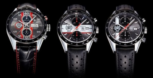 The Look: Collection,stainless steel, Calibre 16 self-winding Swiss chronograph watch, black bezel features the tachymeter scale for calculating speed ($2995), Tag Heuer