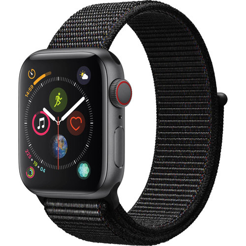 The Look: Apple Watch Series 4; Space Gray Aluminum Case with Black Sport Loop, 40 MM (from $399