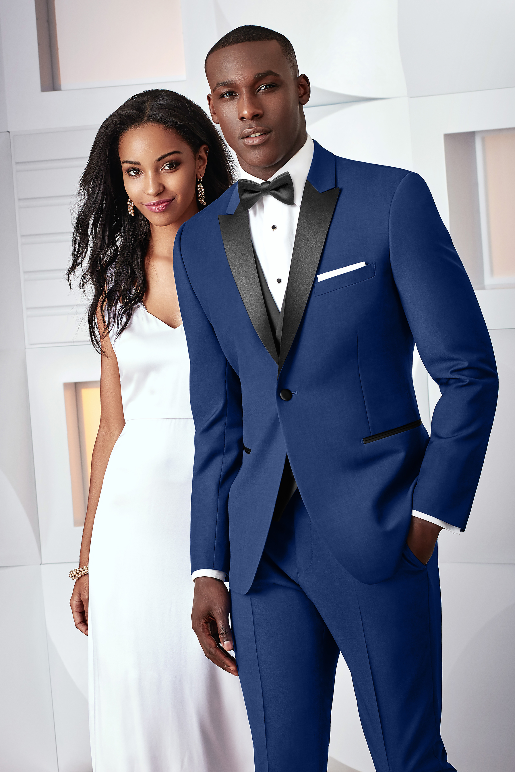 Ultra Slim Cobalt Blue Tribeca Tuxedo by Ike Behar