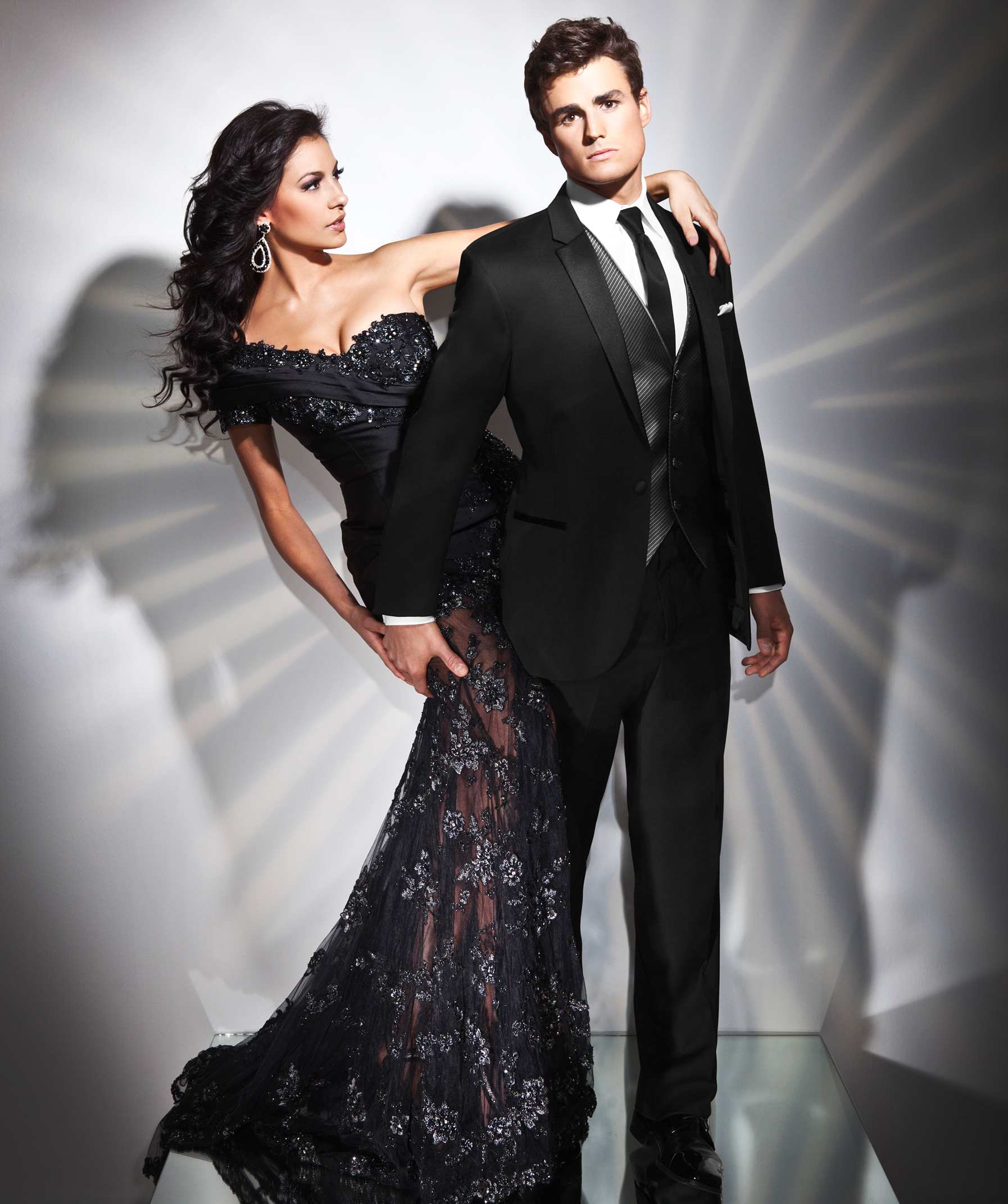 Black Genesis Slim Fit Tuxedo by Tony Bowls