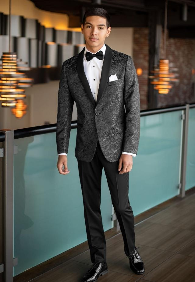 Granite Aries Paisley Slim Fit Tuxedo