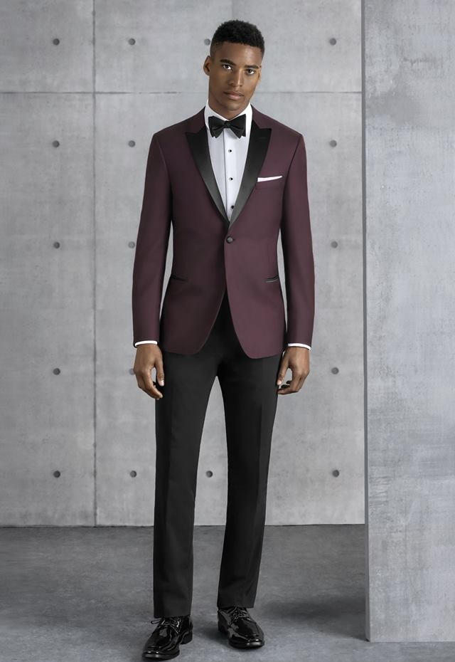 Burgandy Empire Ultra Slim Tuxedo
