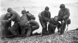 Veterans storming the beaches of Normandy