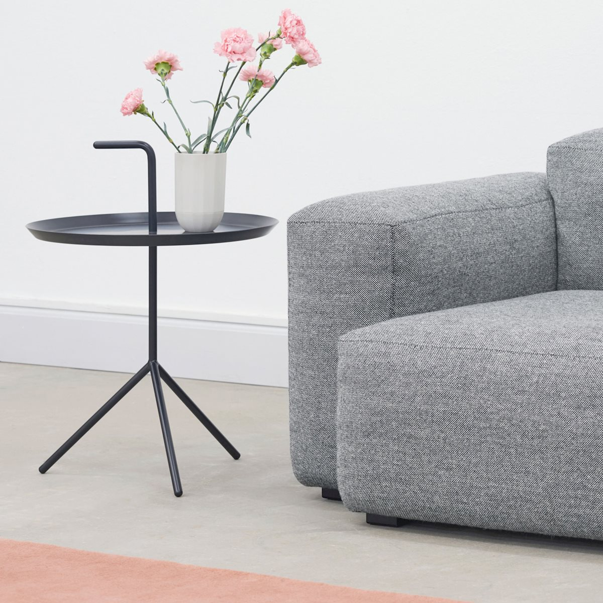 DON'T LEAVE ME SIDE TABLE The cute and handy DLM table was designed by Danish designer Thomas Bentzen for HAY.