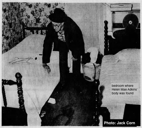 Crime scene, Adkins' bedroom