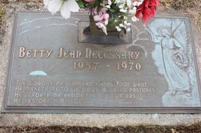Betty Jean's grave