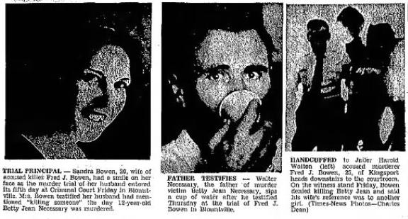 Sandra Bowen, Walter Necessary, & Fred Bowen