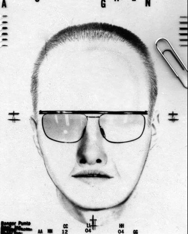 Police sketch of male passenger