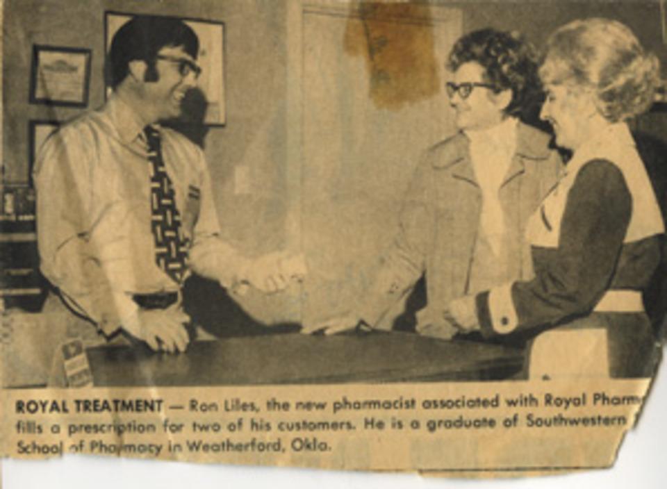 Ron Liles, Jo Ella Liles, and Ron's sister