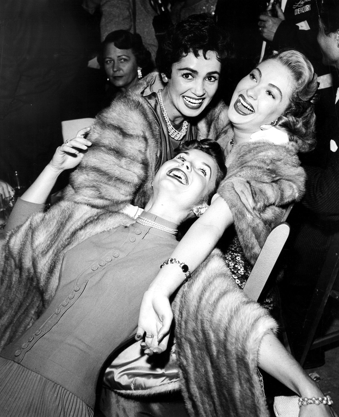 Susan Cabot, Debbie Reynolds, and Lori Nelson in 1953