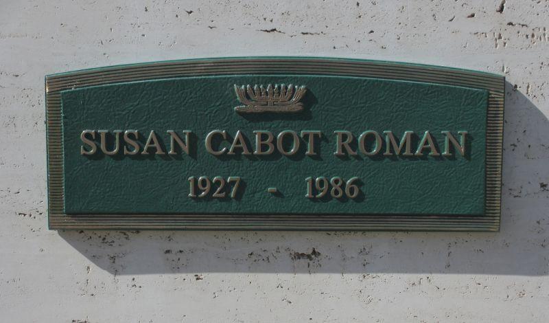 Susan Cabot Roman's grave