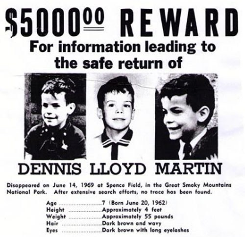 Dennis Martin missing poster