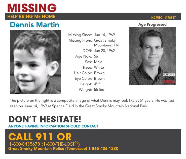 NCMEC missing poster