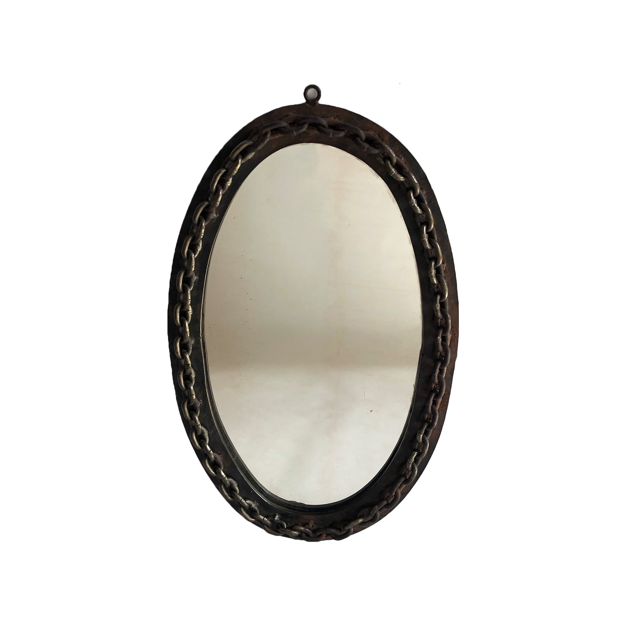 OVAL CHAIN MIRROR